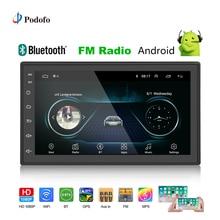 Podofo 2din автомобиля радио Android gps; Мультимедийный проигрыватель Авто 2 Din 7 »сенсорный экран Bluetooth FM Wi Fi аудио плеер стерео