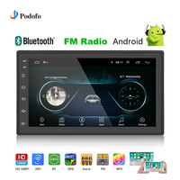 Podofo 2din Car Radio Android GPS Multimedia Player Autoradio 2 Din 7'' Touch Screen Bluetooth FM WIFI Auto Audio Player Stereo