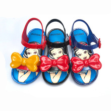 Mini Melissa 2019 New Princess PVC Jelly Sandals Butterfly  Kids Shoes Party Dance For Girls 13-18CM