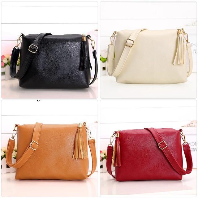 0fc9422ef5b3 Brand designer women bag soft leather fringe crossbody bag women messenger  bags candy color shoulder bags