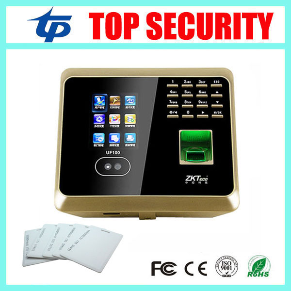 UF100Plus face recognition time attendance with fingerprint and RFID card EM card reader TCP/IP WIFI facial employee time clock face recognition time and attendance system vf300 employee time recorder zk vf300 time clock