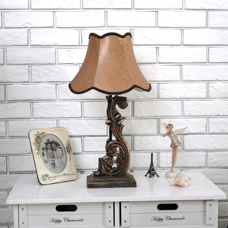 TUDA 2017 Table Lamp for Bedroom Bedside Lamp European Style of The Ancient Study Rural Living Room Decoration Lamp