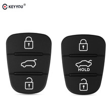 KEYYOU Vervanging Rubber Button Pad Voor Hyundai Solaris Accent Tucson l10 l20 l30 Kia Rio Ceed Flip Afstandsbediening Autosleutel shell(China)