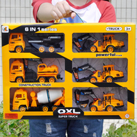 Alloy Engineering Car Model Tractor Toy Dump Truck Model Classic Toy Vehicles Mini Gift For Boys > 3 years old 1:18 boys toys