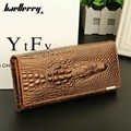 2016 New Fashion Women Wallet 3 Fold First Layer Of Cowhide Wallet Alligator Long Coin Purse 100% Genuine Leather Women's Purse