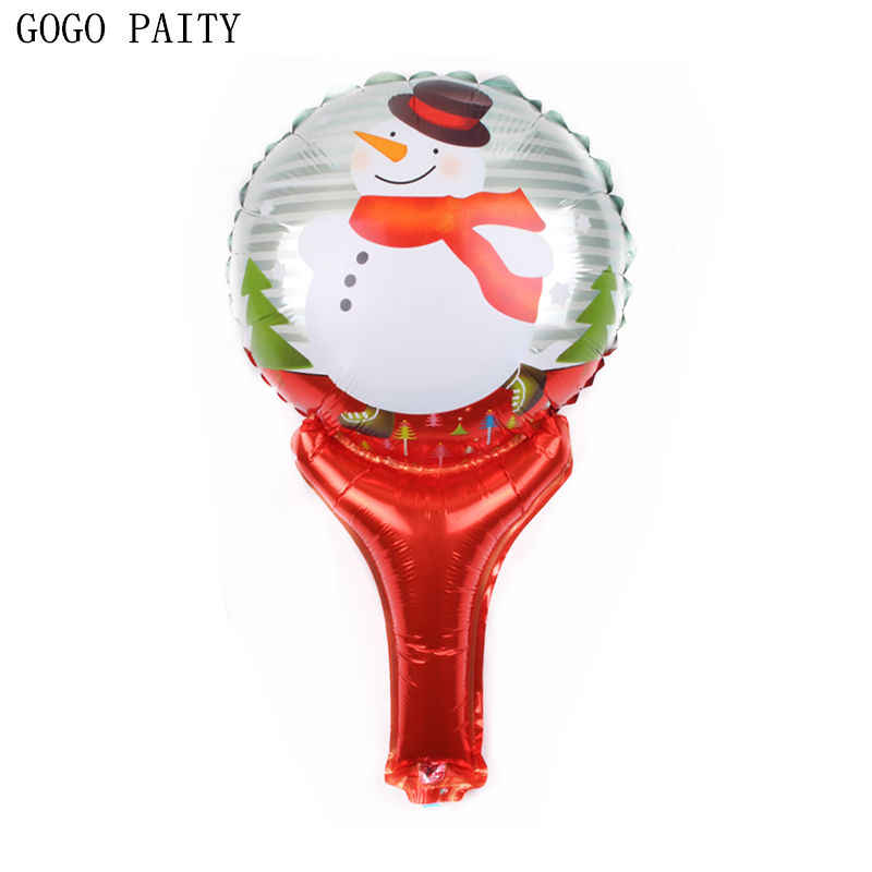 גוגו PAITY חדש מיני עץ חג המולד שלג מחזיק אלומיניום בלון בלונים דקורטיביים ערב חג המולד