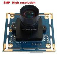 3264 H X 2448 V 8Megapixel 12mm Lens CCTV Document Capture Usb Webcam Camera
