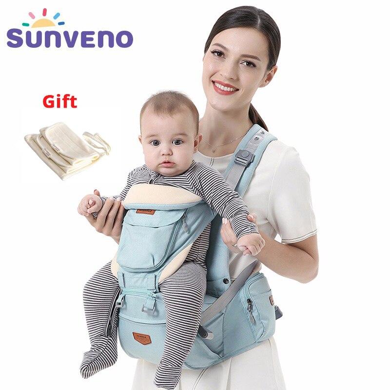 SUNVENO Ergonomische Draagzak Baby Baby Heupdrager Carrier Voorkant Ergonomische Kangoeroe Draagdoek draagdoek voor Baby Reizen 0- 36 m