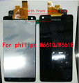 100% Tested Original With Logo For Philips Xenium W6610/W6618 Display+Touch Screen Digitizer Full LCD With Front Camera Hole