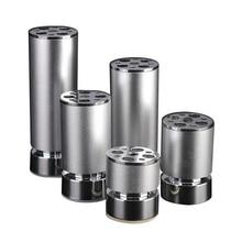 سبائك الألومنيوم أرجل قطع الأثاث خزانة الجدول شكل دائري 8 مللي متر قدم قابل للتعديل 50x60/80/100/120/150/180/200/250 مللي متر الفضة
