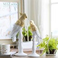 Miz 1 قطعة الراتنج تمثال الشكل خمر ديكور المنزل التبعي ل غرفة المعيشة الببغاء المكتبي التبعي للديكور