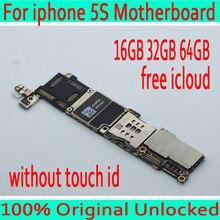 Фабрика разблокирована для iphone 5S материнская плата без Touch ID, оригинальный для iphone 5S материнская плата с системой IOS, 16 ГБ/32 ГБ/64 ГБ