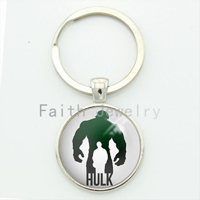 US $0.9 55% OFF|Hulk logo comic schlüssel kette personalisierte minimalist  silhouette kunst bild keychain coole geschenke für männer vater bruder ...