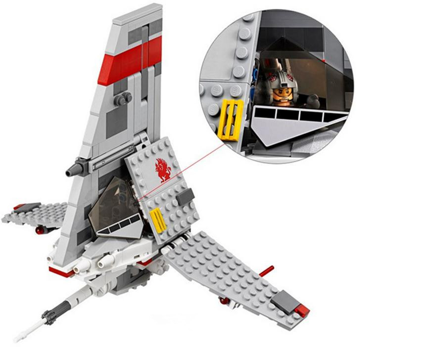 Classic Movie Star wars T-16 Skyhopper Building Blocks Model Compatible with 75081 Lepin Toys Bricks Best Gift For Children