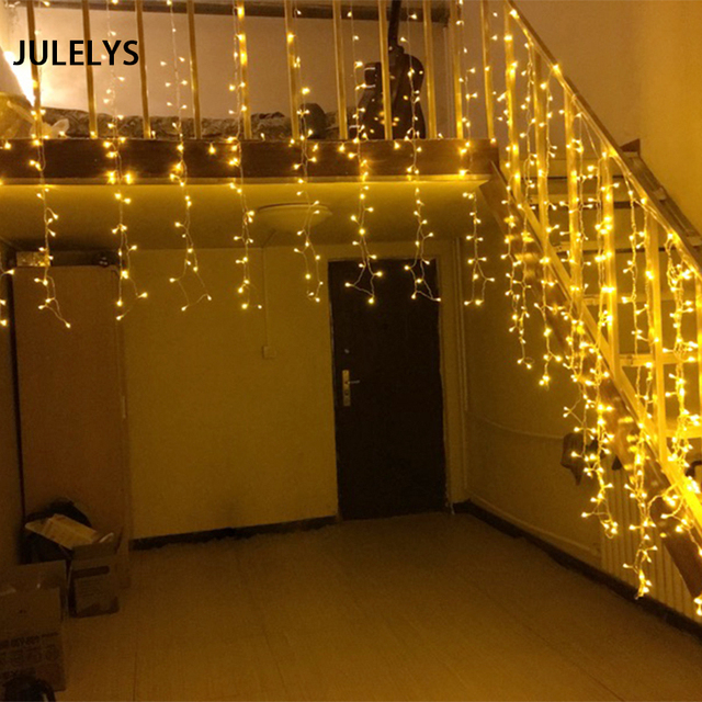 Us 35 98 39 Off Julelys 10 X 1 5m 480 Bulbs Led Curtain Wedding Lights Hotel Outdoor Christmas Garland Window Lights Decoration For Holiday In