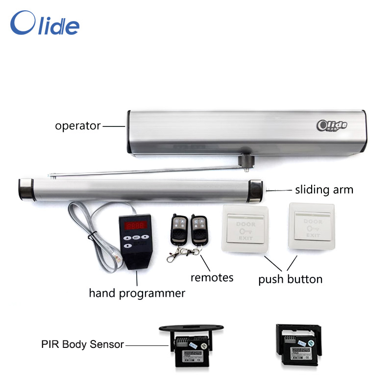 Motion Sensored electric swing door closer for single and double leaf door