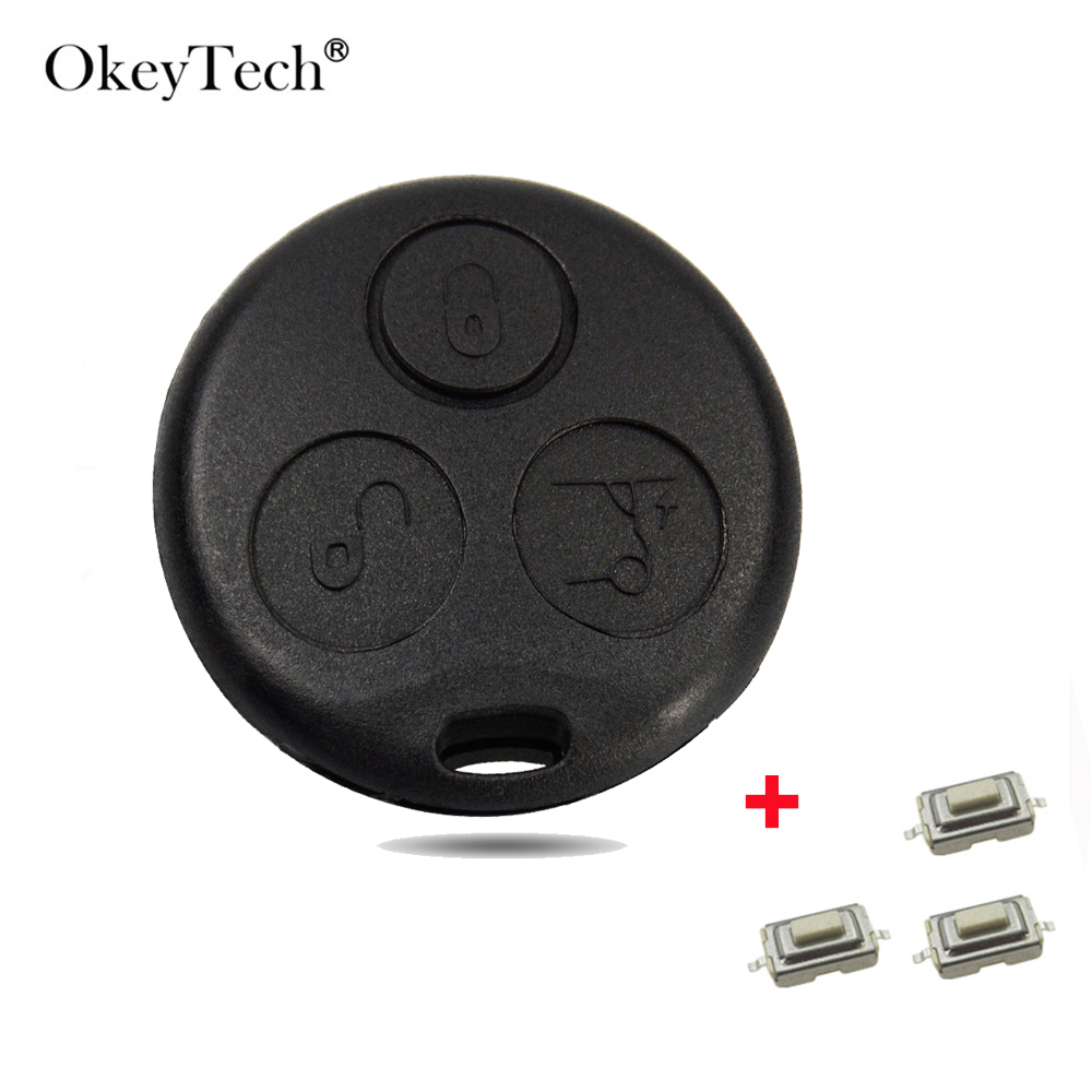 OkeyTech 3 Buttons Car <font><b>Key</b></font> Shell FOB For Mercedes Benz <font><b>SMART</b></font> Fortwo <font><b>450</b></font> Forfour Roadster Replacement Case Cover Car Accessories image