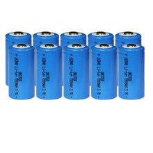 10 шт. подлинный 3,7 в 16340 перезаряжаемый литий-ионный аккумулятор 700 мАч литий-ионный аккумулятор CR17335 CR123A CR 123A для лазерного фонарика