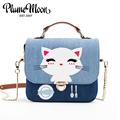 Japan and South Korea Fashion Style Cartoon Minimalist Crossbody Bag Fashion Small Women Shoulder Bag Cat Women Messenger Bag