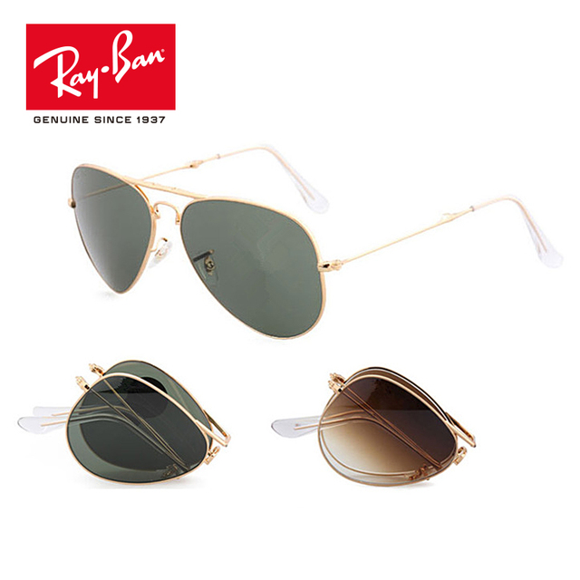 100% Original Rayban 2018 Outdoor Pilot folding Sunglasses Lens Eyewear Accessories Sun Glasses For Men/Women RB3479-001/51
