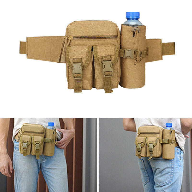 Men's Outdoor Camping Tactical Backpacks Pouch Belt Bag Waist Backpack Soft Sport Running Pouch Travel Bags