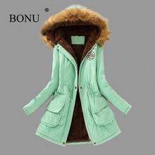 BO NU 2017 Fashion Winter Thicken Long Big Size Parka Warm Winter Hooded Fur Coat Plus Size Winter Warm Jackets Women Fur Coats