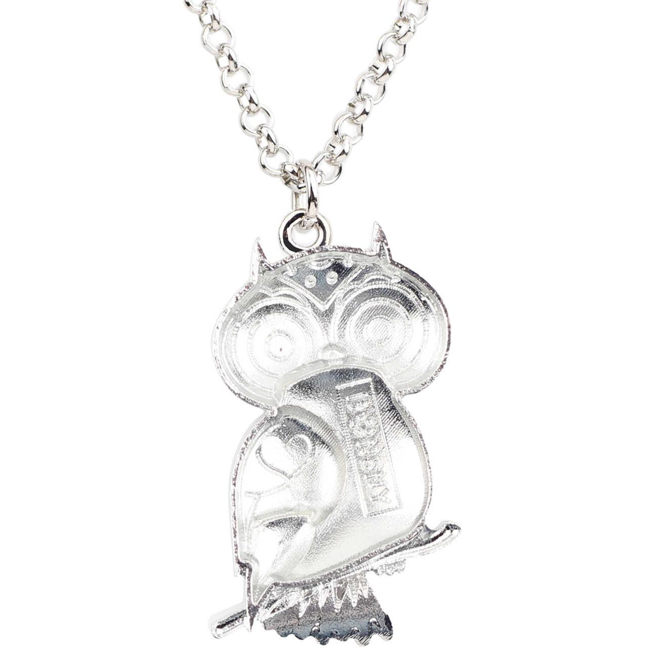 Bonsny Men Hợp Kim Hoa Owl Bird Vòng Cổ Mặt Dây Chuyền Chains Choker Mới Lạ Động Vật Trang Sức Cho Phụ Nữ Cô Gái Món Quà Quyến Rũ Quyến Rũ Nóng