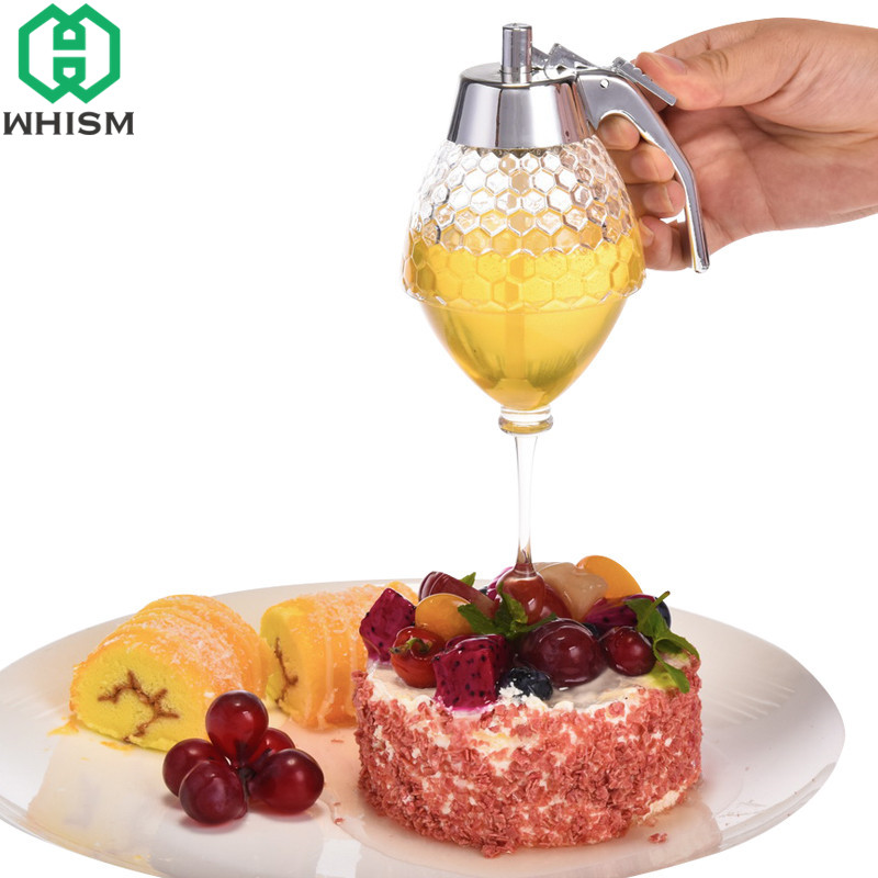 Whism 200ml Transparent Acrylic Honey Dispenser Bee Drip