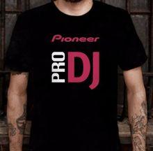 Pioneer Pro DJ Men's T Shirt Mixer Player Headphone Summer Short Sleeve Fashion Top Tee Cotton O-neck T-shirts Hot Sale S-3XL