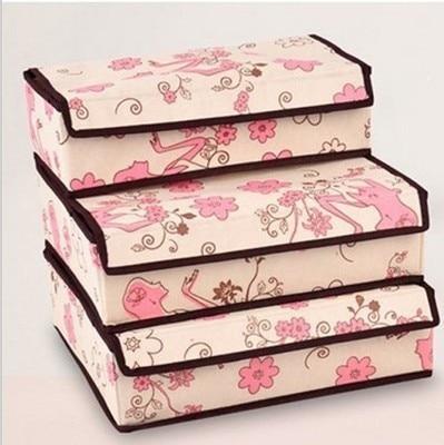 Captivating Practical Beautiful 3 Pcs Underwear Organizer Closet Drawer Socks Ties Bra Lingerie  Storage Box
