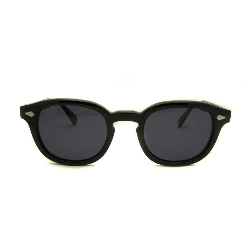 4a6090211b1 ... Retro Vintage Sunglasses Fashion Male Round Shapes Johnny Depp Rivet  Sun Glasses For Men Brand Designer ...