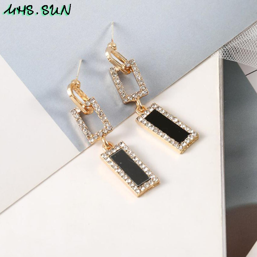 30-5Fashion Exaggerated Women Crystal Drop Earrings European Style Dangles Earrings Jewelry Trendy Design Party Accessories