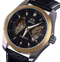 Часы Мужчины Люксовый Бренд Gucamel Механические Часы Мужчины бизнес Кожа Часы Повседневная Наручные Часы Мужской Часы relojes hombre