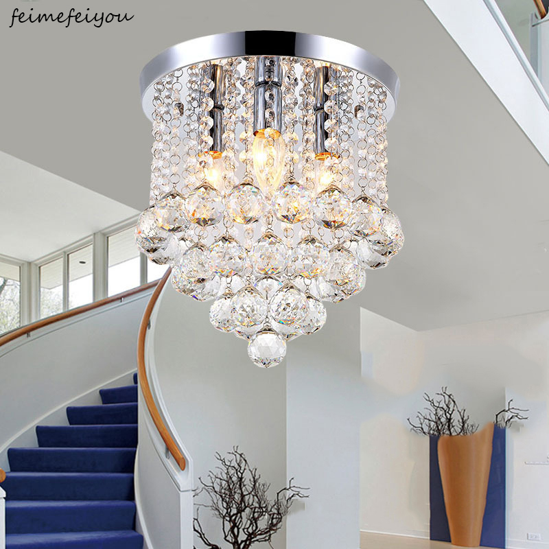 New Round LED Crystal Ceiling Light For Living Room Indoor Lamp luminaria home decoration
