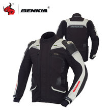 BENKIA Moto Jacket Motorcycle Reflective Jacket Motocross Racing Jacket Moto Winter Windproof Motorbike Jacket S-4XL