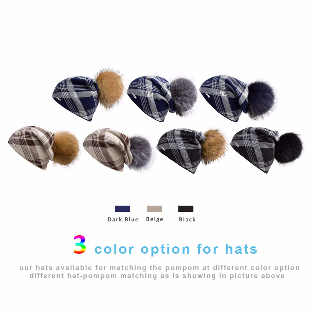 f526b75949415 Aliexpress.com   Buy Oversized Cashmere Slouchy Beanie Hat with Puff ...