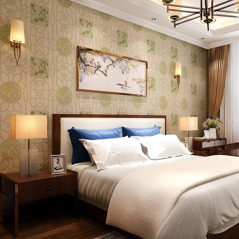 Купить с кэшбэком Chinese Style Wallpaper Ancient Wood Grain Living Room Bedroom Background  PVC Wall Paper Roll