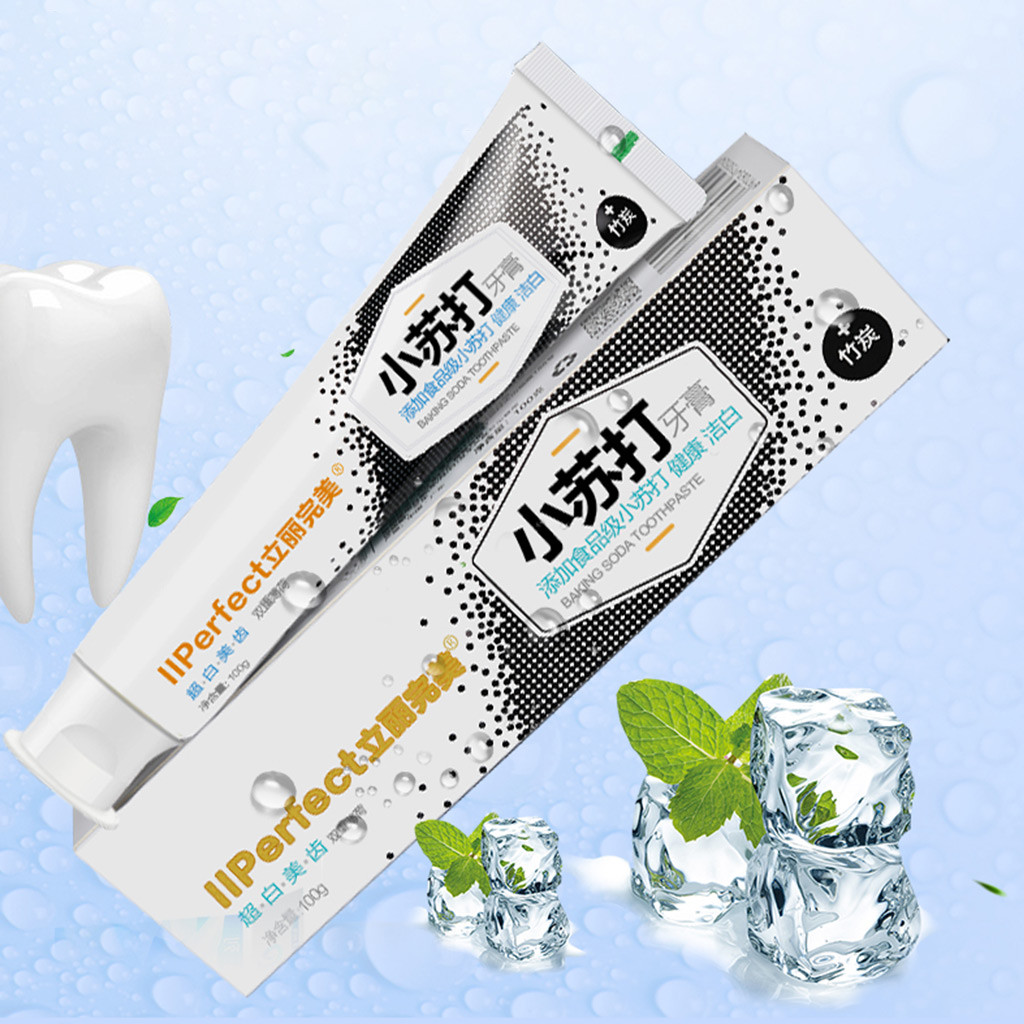 Tooth Care Natural Stain Removal Whitening Baking Soda Bamboo Charcoal Whitening to Bad Breath Toothpaste  Y711(China)