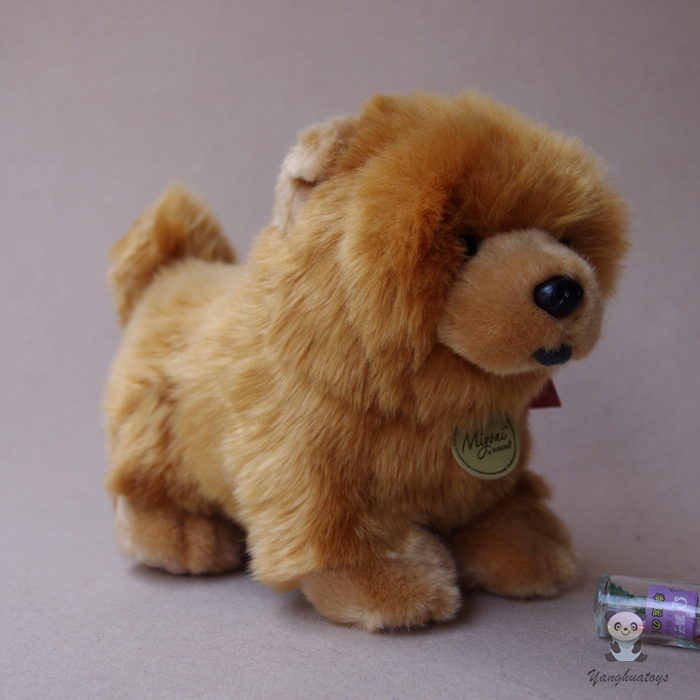 Cute Real Life Plush Chow Chow Doll Toys Kanak-kanak Hadiah Stuffed Animal Dogs Toy Girls