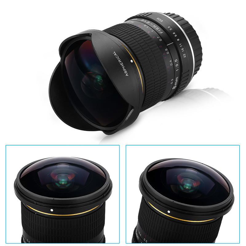 Lightdow 8mm F/3.5 Ultra Wide Angle Fisheye Lens for Nikon DSLR Camera D3100 D30 D50 D5500 D7000 D70 D800 D700 D90 D7100 4