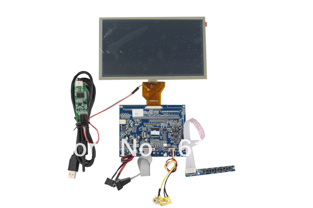 VGA +AV LCD controller board  support  8 inch LCD module with touch screen