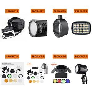Image 2 - Godox S R1/AK R1/BD07/H200R/AD P/AD L/EC200 Flash blitzgerät Adapter Scheune Tür, snoot, Farbe Filter Reflektor FÜR AD200 PRO