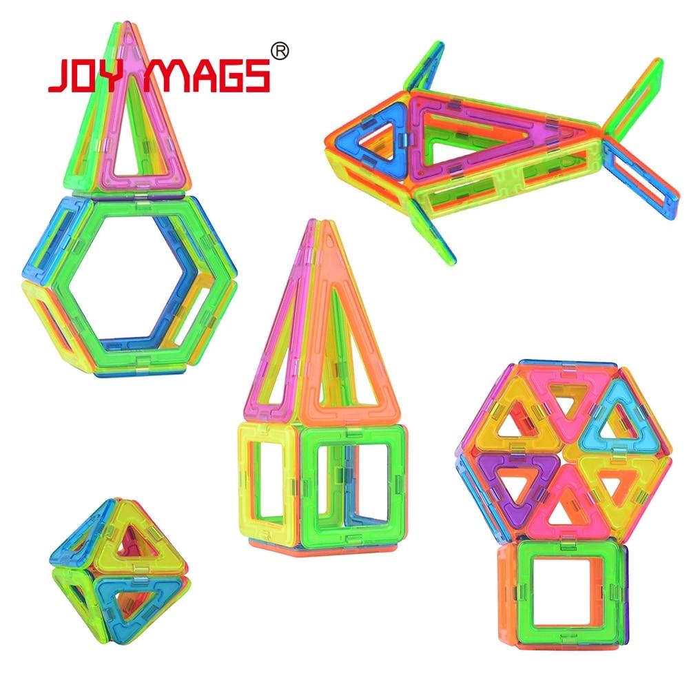 JOY MAGS Magnetic Designer Block 89 pcs Enlighten Plastic Model Kits Gift  Building Models & Building Toy susengo magnetic toy building enlighten block designer 358pcs magnet bars