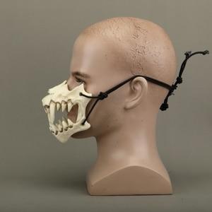 Image 3 - Yeni japon ejderha tanrı maske çevre dostu ve doğal reçine maskesi hayvan tema parti Cosplay hayvan maskesi el yapımı