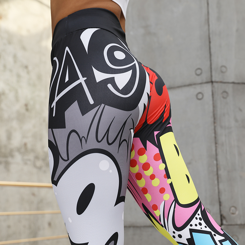 CHRLEISURE Women Fitness Legging High Waist Leggings For Women Workout Push Up Activewear Mujer Digital Printing Leggings