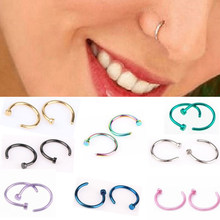 Fake Septum Medical Titanium Nose Ring Silver Gold Body Clip Hoop For Women Septum Piercing Clip Jewelry Gift 1pc(China)