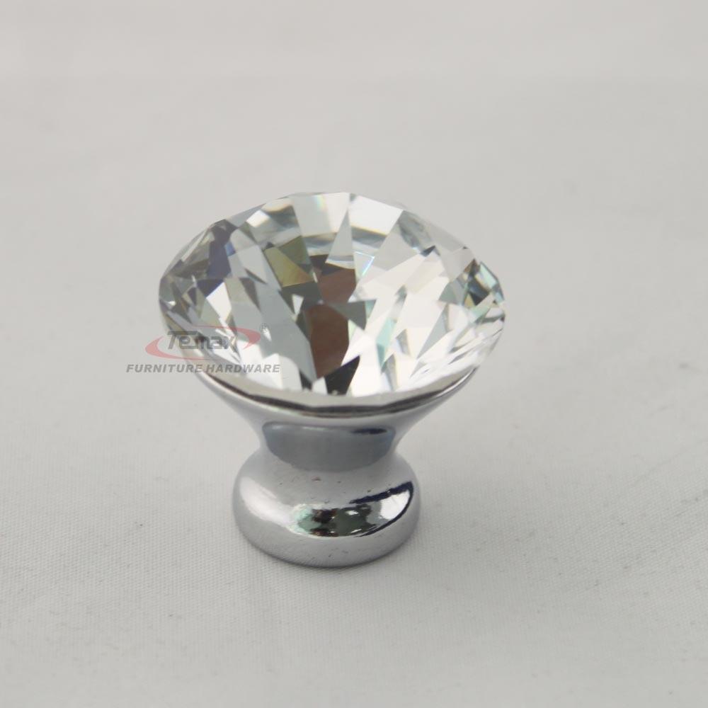 10pcs/lot Zinc Alloy Clear K9 Crystal Knobs Modern Cabinet handles ...