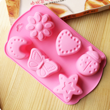 3d insect silicone mold, Chocolate candy cake Molds,heart, butterfly, star Soap Jelly Pudding Ice Molds Baking Tools