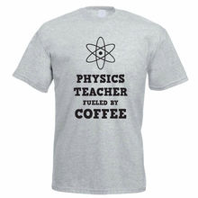 T Shirt Top  MenS Shop Machine Physic Each Fueled By Coffee School Science Crew Neck Novelty Short Sleeve Tees