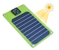 Pannelli solari 5 W Pannello Solare Caricabatterie Esterno USB di Ricarica Della Batteria per il iphone 7 7 plus. Android Del Telefono Mobile della Banca di Potere USA SUNPOWER
